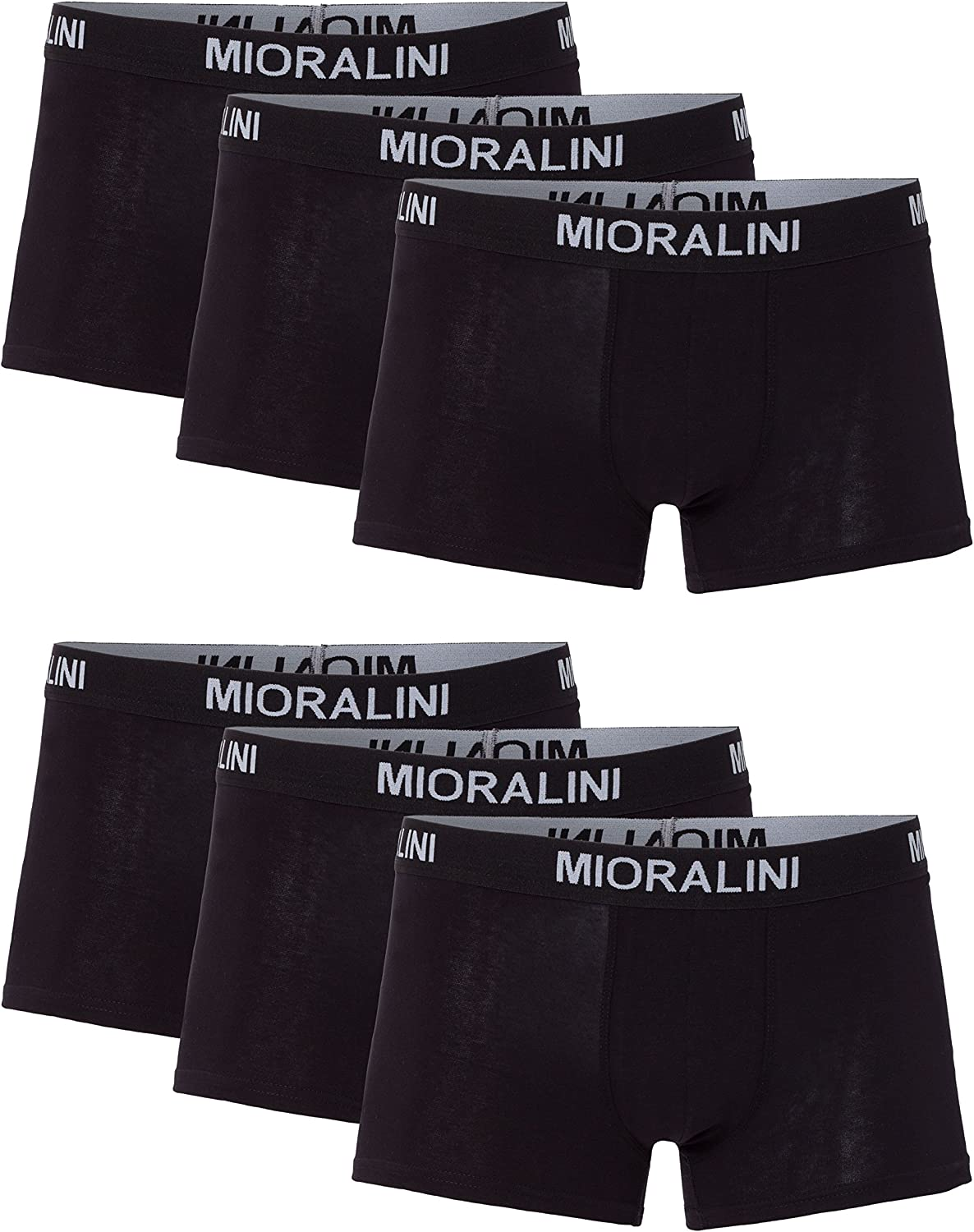 MioRalini 12 or 6 Pairs Stretch Boxershorts Hipster Multicolored Pack