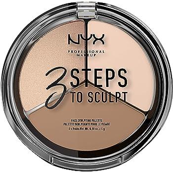 NYX PROFESSIONAL MAKEUP 3 Steps to Sculpt Face Sculpting Palette, Fair