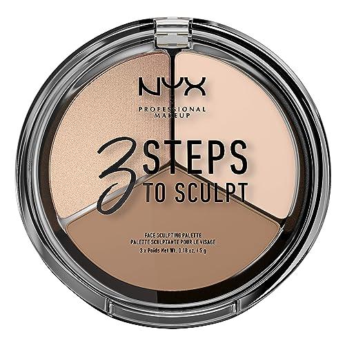 NYX PROFESSIONAL MAKEUP 3 Steps to Sculpt Face Sculpting Contour Palette - Fair