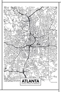 atlanta wall map