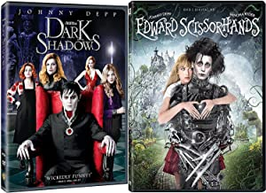 Wickedly Funny Tim Burton Edward Scissorhands DVD + Dark Shadows Johnny Depp Fantasy 2 film Double Feature Bundle
