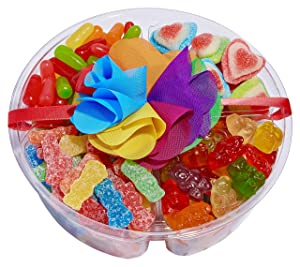 Luxury-Gourmet Rainbow Candy Tray – Candy Care Package Gift Basket 1.5 lbs