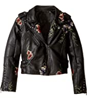 Blank NYC Kids - Floral Vegan Leather Moto Jacket (Big Kids)