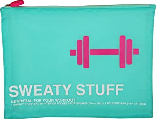 Candie Couture Sweaty Stuff 3-piece Gym Travel Bag Set (Turquoise)