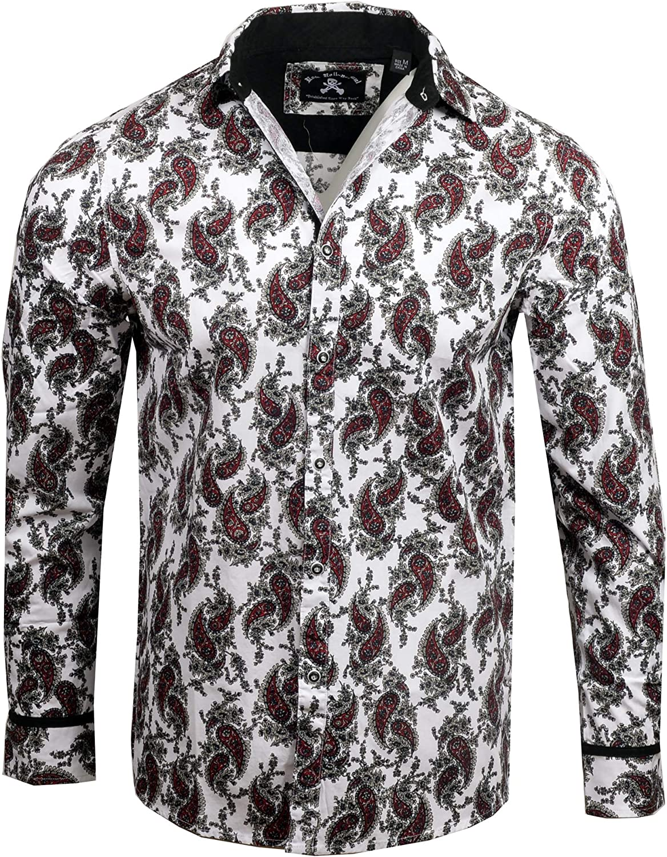 the latest 0c497 84e09 Rock Roll n n n Soul Men's 'Paisley Park' Long Sleeve Button ...