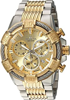 Invicta Men's Bolt Quartz Watch with Two-Tone-Stainless-Steel Strap, 16 (Model: 25864 & 25513)