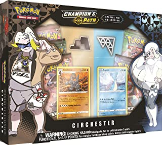Pokémon POK82741 TCG: Champion's Path Special Pin Collection-Stow-On-Side and Circhester Gyms (one at Random), Multi