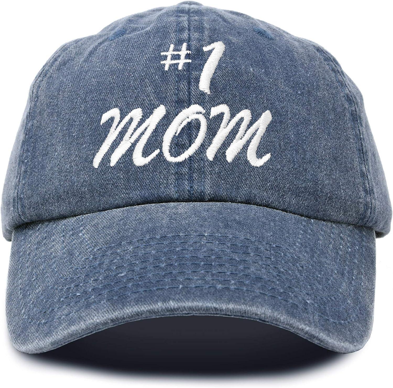 DALIX #1 Mom Hat Number One Vintage Cotton Baseball Cap
