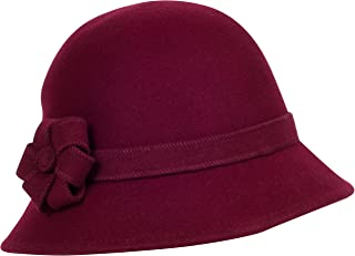 Molly Vintage Style Wool Cloche Hat