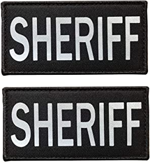 SUVIYA 4x2 Inch Reflective Sheriff Patch with Hook and Loop Police Patch(2 Pack)