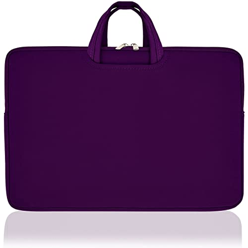 Laptop Sleeves Collapsible Handles (17 Inch, Purple)