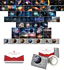 Space Wall Art Collage Kit Star War Decor Pictures for Kids Boys and Girls Teen Dorm Bedroom Photo Poster Astronomy for Children's Gifts Birthday Christmas Decor DIY Creative Artwork (50pcs 4*6 inch)