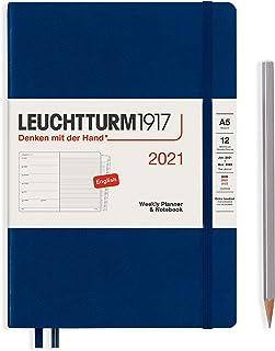 ロイヒトトゥルム 手帳 2021年 1月始まり A5 ウィークリー ネイビー 361854