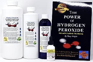 Holiday Sale! Trinity NutraLab - 12% Food Grade Hydrogen Peroxide 1 Quart, 1 Pint, 1 8 Fl Oz, 1 Fl Oz Dropper. Includes The True Power of Hydrogen Peroxide by Mary Wright.