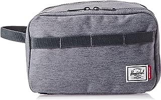 Herschel Independent Unisex Toiletry Bag, Mid Grey Crosshatch/Dark Shadow