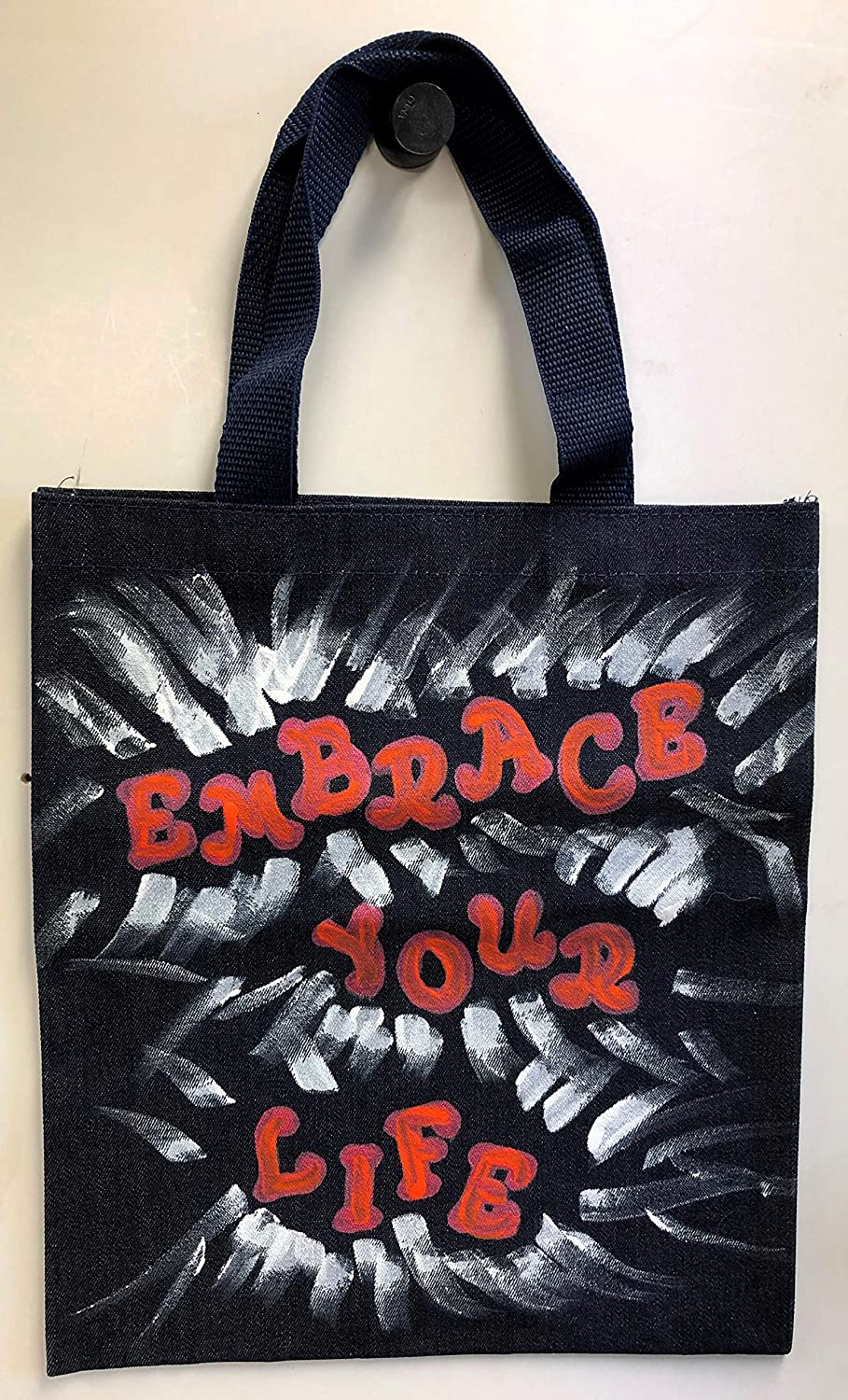 Embrace Your Life Purchase Very popular Hand-Painted Tote Denim Bag