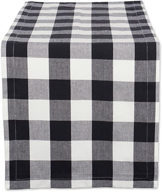 DII Cotton Buffalo Check Table Runner for Family Dinners or Gatherings