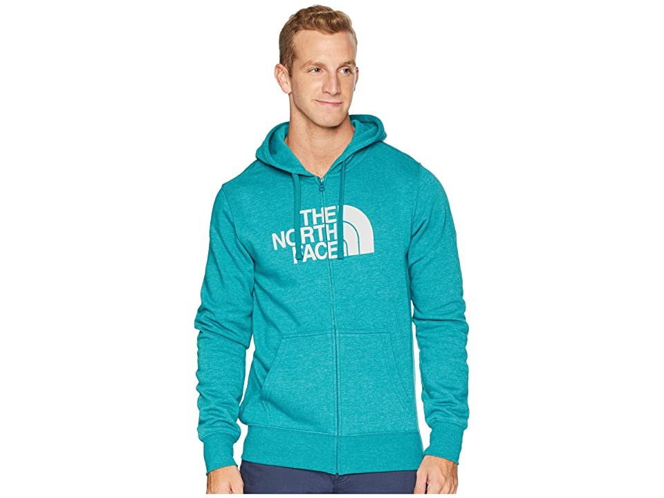 The North Face Half Dome Full Zip Hoodie (Everglade Heather/High-Rise Grey) Men