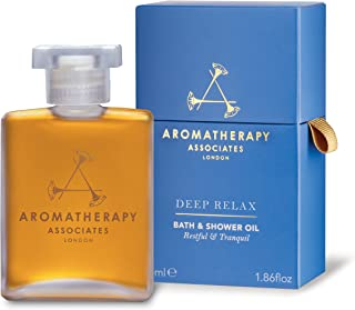Aromatherapy Associates Deep Relax Bath And Shower Oil, 1.86 Fl Oz, with earthy Vetivert, soothing Camomile and comforting...