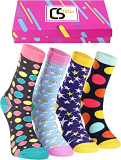 Creasocks Novelty Socks for Women Men Fancy Funky Quirky Colourful Silly Funny Socks for gifts, Cotton Socks, Gifts for wo...