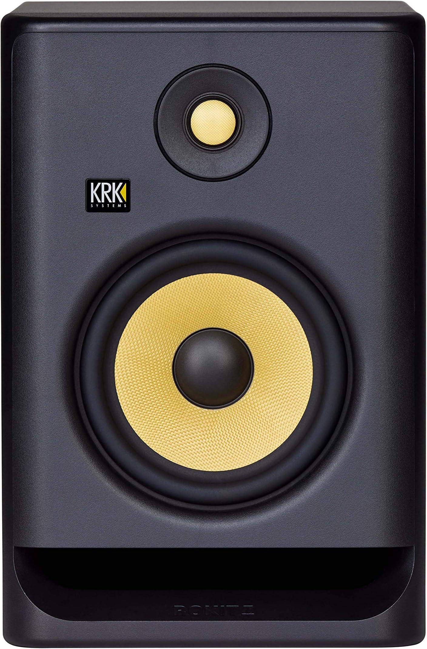 """KRK RP7 Rokit G4 Professional Bi-Amp 7"""" Powered Studio Monitor, Black (RP7G4)"""