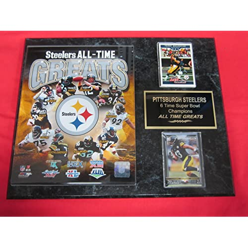 40ce56c773d Pittsburgh Steelers All Time Greats 2 Card Collector Plaque w 8x10 Photo