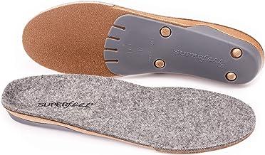 Superfeet merinoGREY, Wool Comfort and Warmth Maximum Support Winter Shoe Insoles, Unisex, Grey