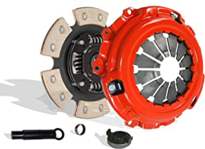Clutch Kit Works With Acura Csx Rsx Civic Type-S Si Base Coupe 2-Door Sedan 4-Door 2006-2011 2.0L l4 GAS DOHC Naturally Aspirated (6 Speed Trans; Flywheel Spec: 0.047+; 6-Puck Disc Stage 2)