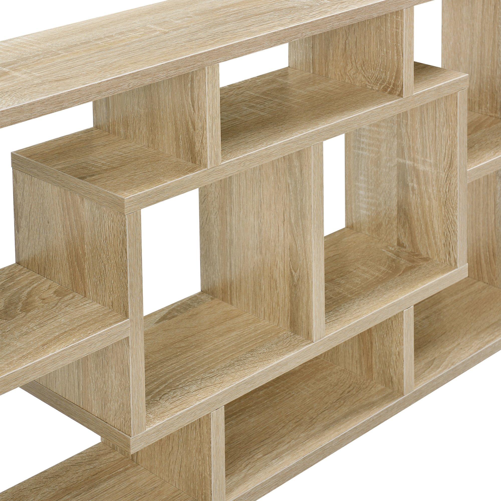 En Casa Design Wandregal In Eichen Optik 85 X 47 5 X 16 Cm Regal