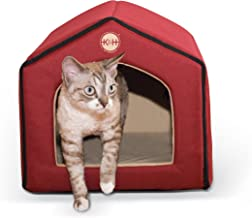 K&H Pet Products Indoor Pet House Red/Tan 16