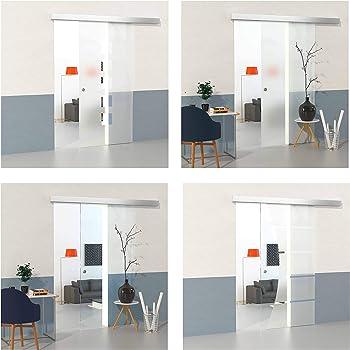DURADOOR Juego de puertas correderas de cristal de seguridad en diseño de 5 rayas 2050 mm x 1050 mm x 8 mm puerta corredera puerta de cristal: Amazon.es: Bricolaje y herramientas