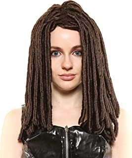 Michonne Walking Dead Character Style Premium Costume/Cosplay Wig Brown