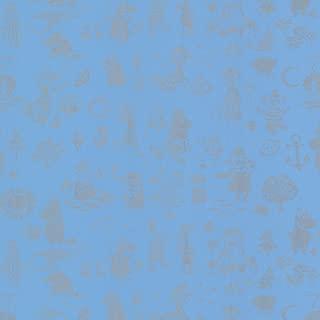 Sandudd SD5164-4 Moomin Blue Novelty Wallpaper