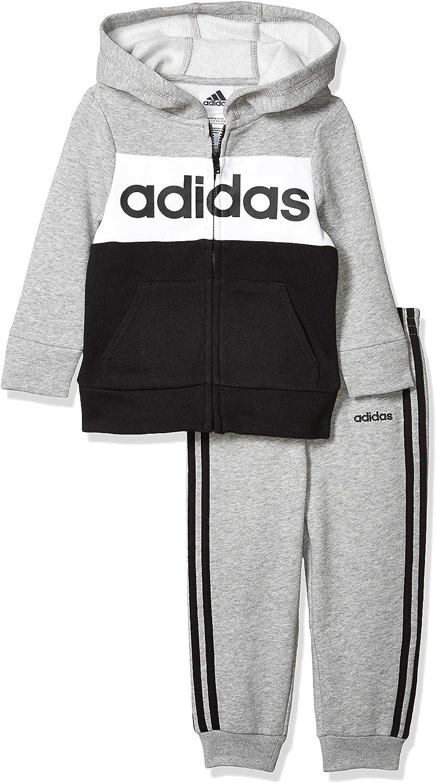 adidas baby-boys Li'l Sport Hoodie and Sweatpants Clothing Set
