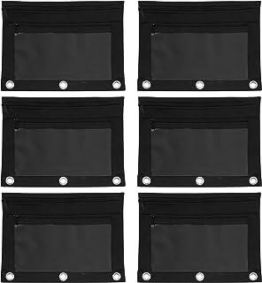 جراب بسحاب من أدفانتس، مقاس 24.13 سم × 13.97 سم، باللون الأسود، عبوة من 6 قطع (94036)