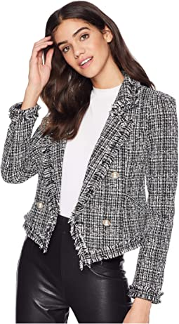Tweed and Faux Pearl Blazer