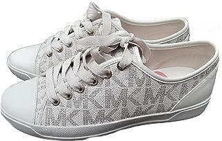 Womens MK City Sneakers Signature PVC (6, Vanilla)