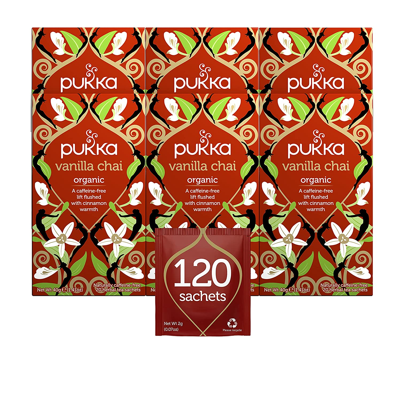 Pukka Vanilla Manufacturer regenerated product Chai Max 84% OFF Organic Herbal With Cardamom Cinnamon Tea