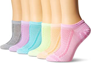 Hanes Women's 6-Pack Invisible Comfort Scoop Cut No Show Sport Liner