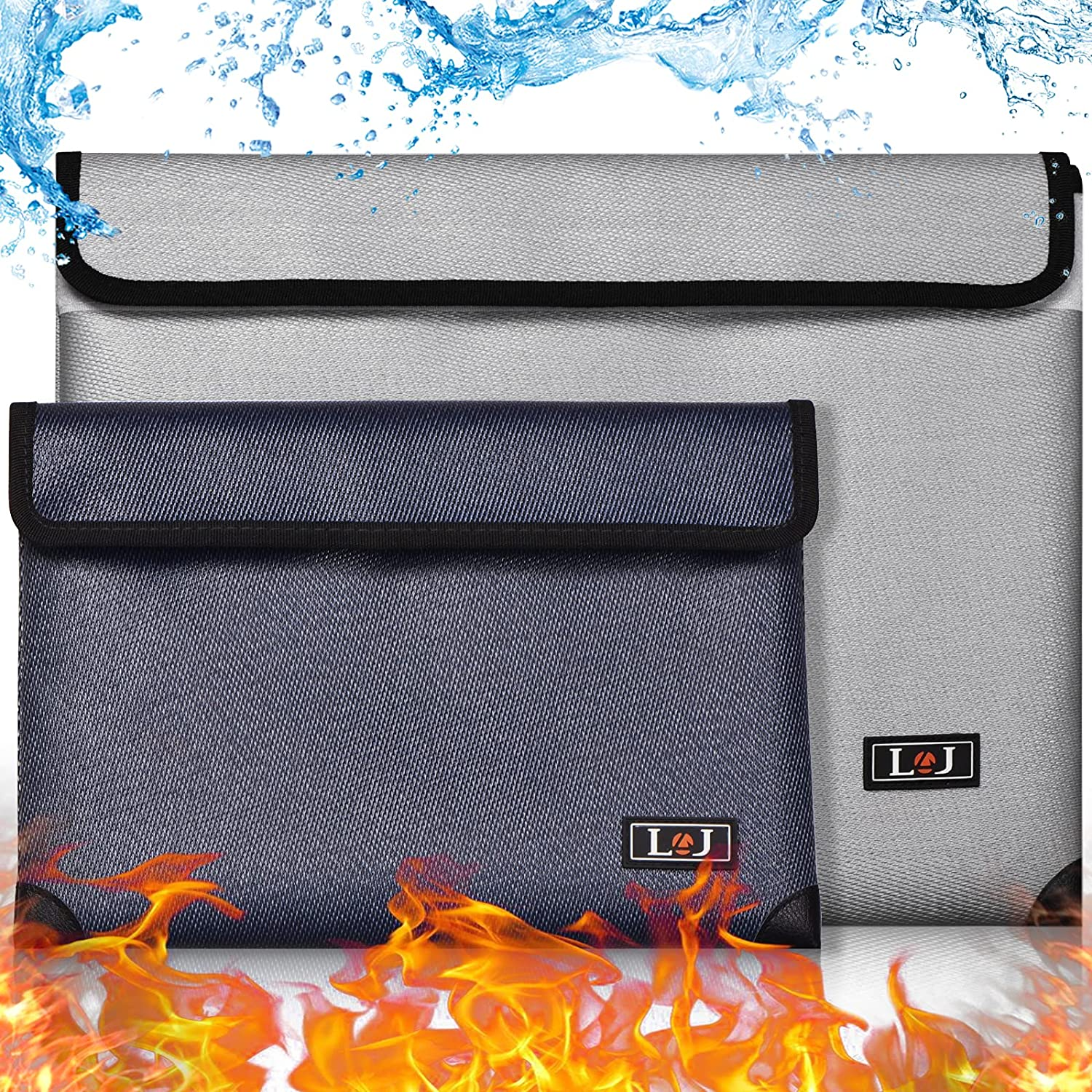 """BNT Fireproof Document Bag 2 13.8""""x10.6""""Fireproo low-pricing Pack 70% OFF Outlet"""