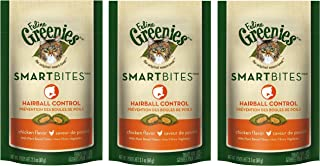 Feline Greenies Smartbites Hairball Control Cat Treats - Chicken Flavor - 2.1 Oz. (3 Pack)