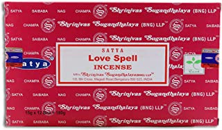 Nag Champa Incense Stick Packs - Hand Rolled & Non-Toxic - Perfect for Meditation and Yoga - Home Fragrance Gift Pack - 15...