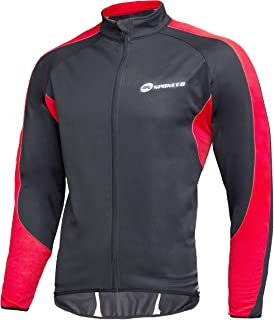 sponeed Men's Wind Jackets Cycling Fleece Coat Shirts Winter Windproof Thermal Bicycle Bike Clothes