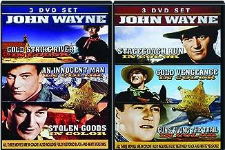 John Wayne 6-Movie Set in Color & B&W - Stagecoach Run, Cold Vengeance, Guns Along the Trail, Gold Strike River, An Innocent Man & Stolen Goods 6-DVD Bundle