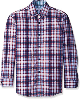 Isaac Mizrahi Boys' Electro Plaid Shirt