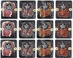Caja Snacks Salados - 12 sobres de embutido de jamón, lomo, chorizo y salchichón con picos de pan para llevar y tomar...