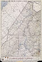 Historic Map - The Phillips Map of Northern Maine's St. Johns-Allagash Wilderness Featuring The Allagash Wilderness Waterway State Park, 1967 - Vintage Poster Art Wall Décor - 24in x 36in