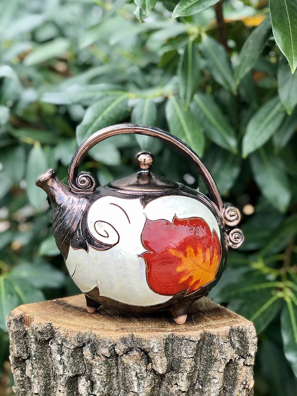 Handmade Our shop most Max 65% OFF popular Ceramic Teapot Orange Wedding Flower Art gift