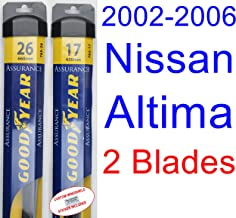 2002-2006 Nissan Altima Replacement Wiper Blade Set/Kit (Set of 2 Blades) (Goodyear Wiper Blades-Assurance) (2003,2004,2005)