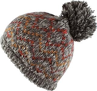 Morehats Bohemian Pattern Knit Pom Pom Handmade Beanie Winter Ski Warm Hat